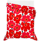 Marimekko Unikko Full/Queen Comforter. Red.