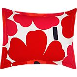 Marimekko Unikko Red Standard Pillow Sham