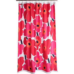 Marimekko Unikko Red Shower Curtain
