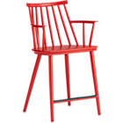 "Union Red 24"" Bar Stool."