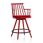 """Union Red 24"""" Swivel Counter Stool with Cushion"""