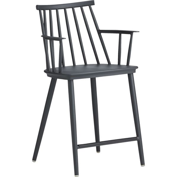 "Union Charcoal 24"" Counter Stool"