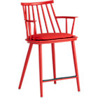 "Union Red 24"" Counter Stool with Sunbrella® Ribbon Red Cushion."