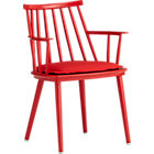 Union Red Dining Arm Chair with Sunbrella® Red Ribbon Cushion.