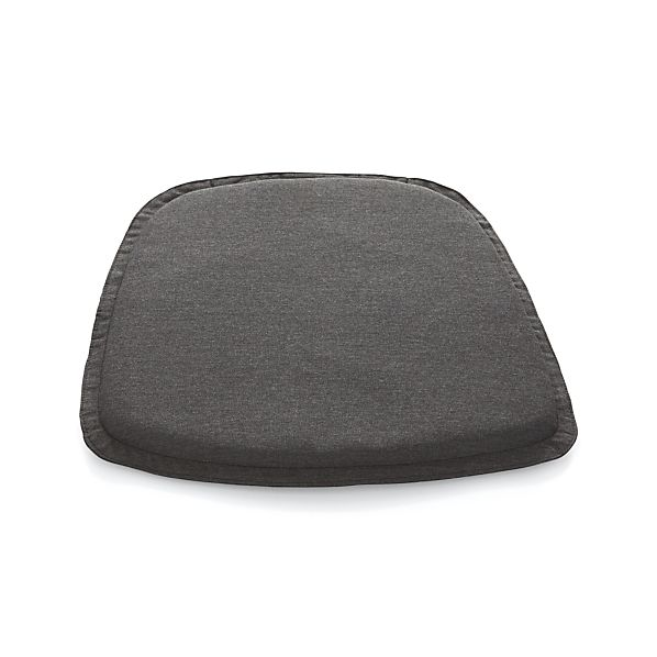 Union Sunbrella ® Charcoal Dining Chair-Bar Stool Cushion