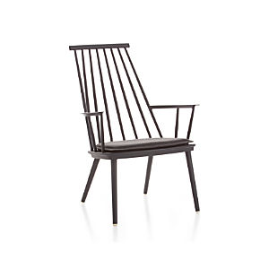 Union Charcoal Lounge Chair with Sunbrella ® Cushion
