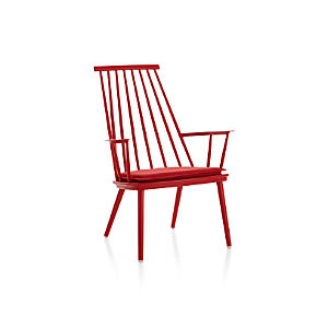Union Red Lounge Chair with Sunbrella ® Cushion