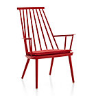 Union Red Lounge Chair with Cushion
