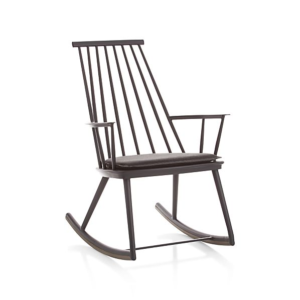 Union Charcoal Rocking Chair With Sunbrella 174 Cushion In