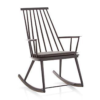 Union Charcoal Rocking Chair with Sunbrella ® Cushion