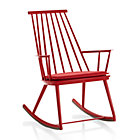 Union Red Rocking Chair with Cushion