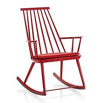 Union Red Rocking Chair with Sunbrella ® Cushion