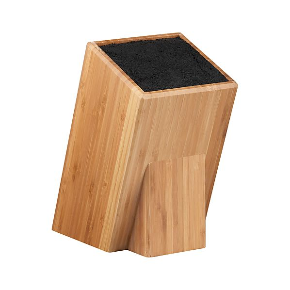universal bamboo knife block crate and barrel