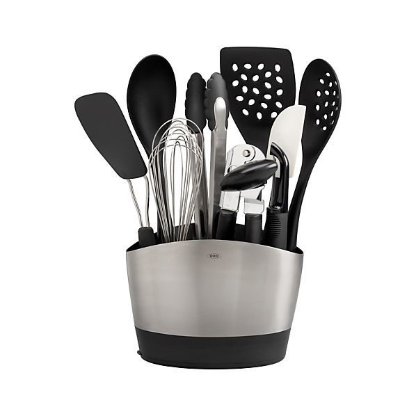 10-Piece OXO® Crock with Tools Set in Cooking Utensils | Crate and