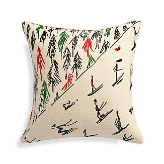 "Vail 18"" Pillow with Feather-Down Insert"