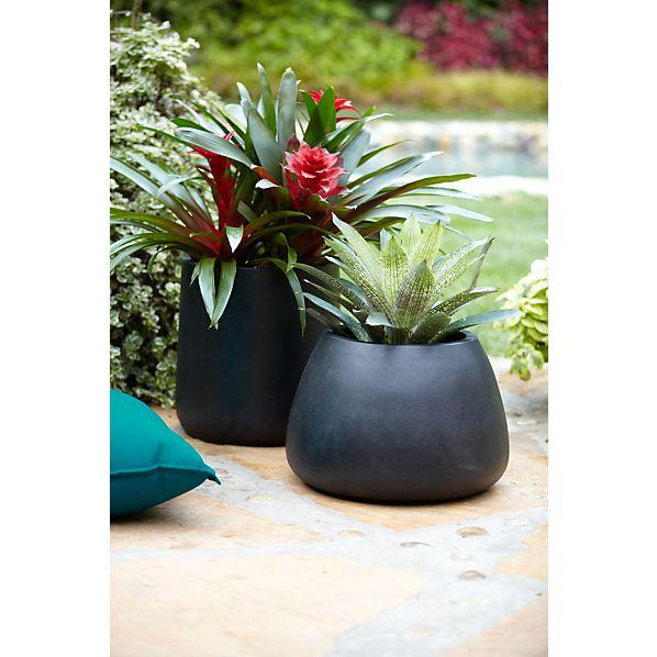 saabira fiberstone planters crate and barrel. Black Bedroom Furniture Sets. Home Design Ideas
