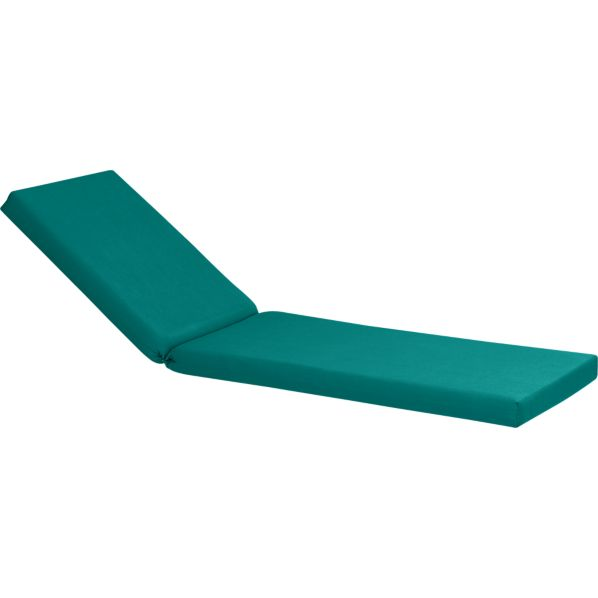 Valencia Sunbrella® Harbor Blue Chaise Lounge Cushion