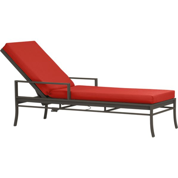 Valencia Chaise Lounge with Sunbrella® Caliente Cushion