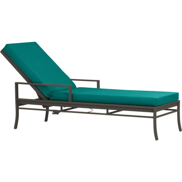 Valencia Chaise Lounge with Sunbrella® Harbor Blue Cushion