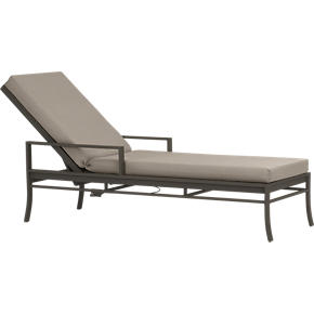 Valencia Chaise Lounge with Sunbrella Stone Cushion