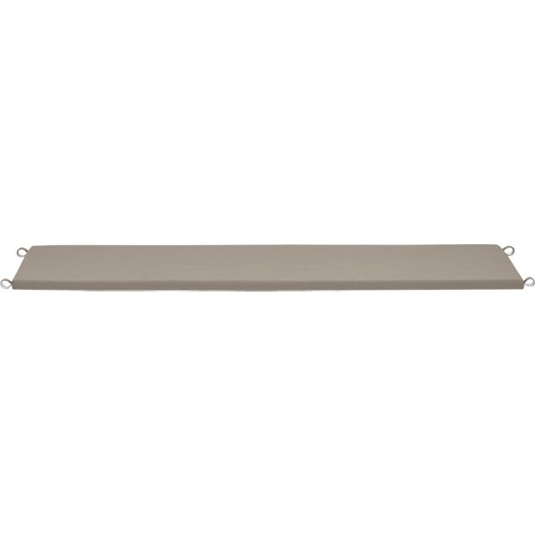 Valencia Sunbrella® Stone Large Dining Bench Cushion