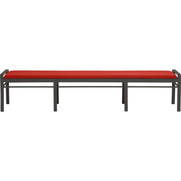 Valencia Large Dining Bench with Sunbrella® Caliente Cushion