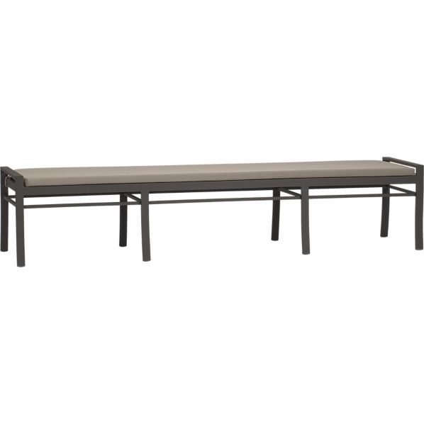 Valencia Large Dining Bench with Sunbrella® Stone Cushion