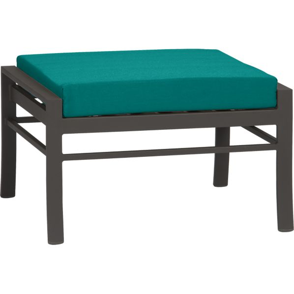 Valencia Ottoman with Sunbrella® Harbor Blue Cushion