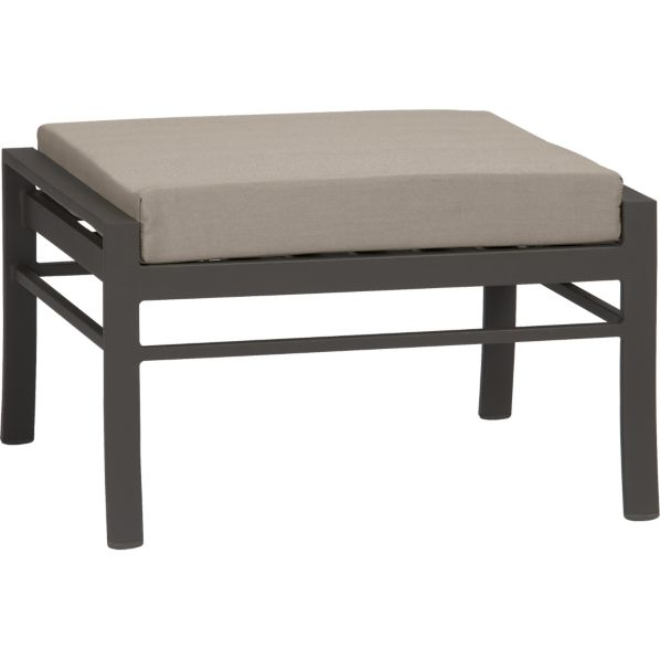Valencia Ottoman with Sunbrella® Stone Cushion