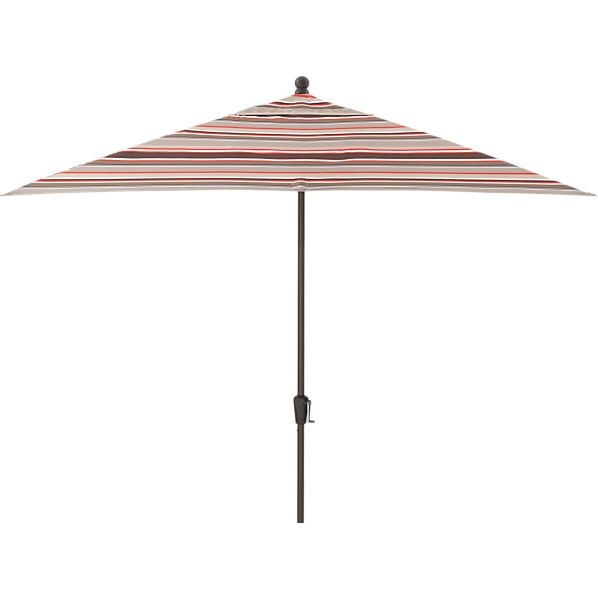 Rectangular Sunbrella® Valencia Stripe Umbrella with Bronze Frame