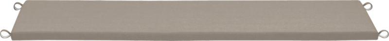 Optional dining bench cushion is covered in fade- and mildew-resistant Sunbrella acrylic in stone. Fabric tab fasteners hold cushion in place.<br /><ul><li>Fade- and mildew-resistant Sunbrella acrylic</li><li>Polyfoam insert</li><li>Spot clean</li><li>Made in USA</li></ul><NEWTAG/>