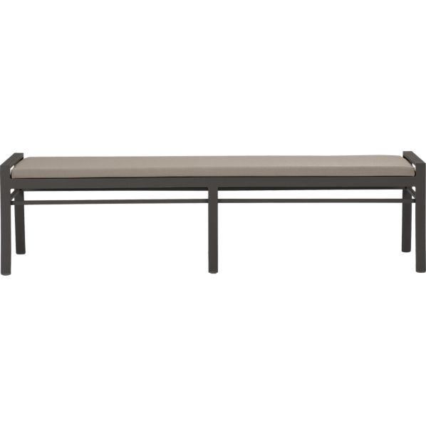 Valencia Small Dining Bench with Sunbrella® Stone Cushion