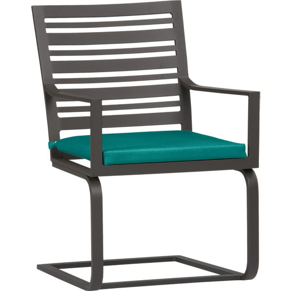 Valencia Spring Dining Chair with Sunbrella® Harbor Blue Cushion