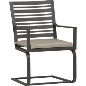 Valencia Spring Dining Chair with Sunbrella Stone Cushion