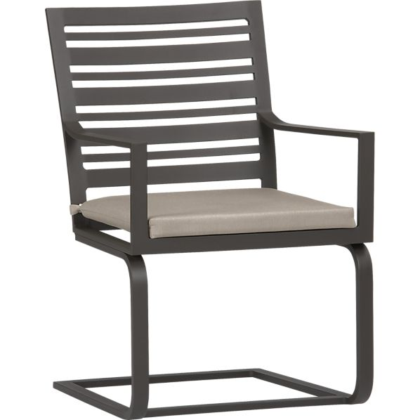 Valencia Spring Dining Chair with Sunbrella ® Stone Cushion