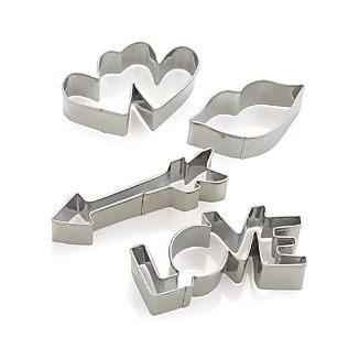 Valentine's Cookie Cutters Set of Four