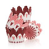 Set of 48 Valentine's Cupcake Papers
