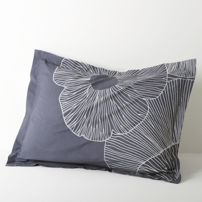 """Erja Hirvi's 2008 design takes a look at the underside of mushroom (""""Valmuska"""") caps in a graceful pattern of overlapping, organically shaped circles filled with delicate tracings of mushroom gills. Bed pillows also available.<br /><br /><NEWTAG/><ul><li>Pattern designed by Erja Hirvi; 2008</li><li>100% cotton</li><li>300-thread-count</li><li>Machine wash cold, tumble dry low; warm iron as needed</li><li>Made in Pakistan</li></ul>"""