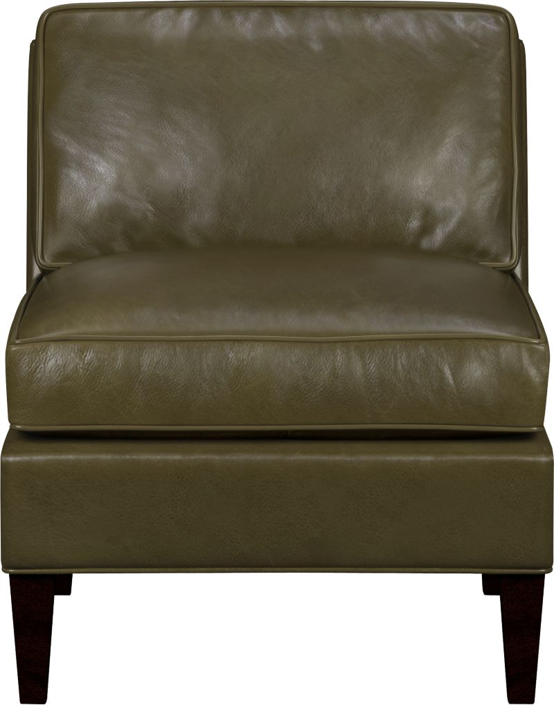 Saturated color and a naturally milled grain herald a soft, authentic leather that is supple yet polished. Rich top-grain leather with self-welt detail has a refined patina that makes for relaxed seating. Mid-century lines feature a low extended back.<br /><br />After you place your order, we will send a leather swatch via next day air for your final approval. We will contact you to verify both your receipt and approval of the fabric swatch before finalizing your order.<br /><br /><NEWTAG/><ul><li>Eco-friendly construction</li><li>Certified sustainable kiln-dried hardwood frame</li><li>Top-grain, full aniline-dyed leather with self welt</li><li>Seat cushion is soy-based polyfoam with feather-down blend encased in downproof ticking</li><li>Back cushion is soy-based polyfoam with fiber encased in downproof ticking</li><li>Sinuous wire spring suspension</li><li>Hardwood legs with mocha finish</li><li>Benchmade</li><li>See additional frame options below</li></ul>