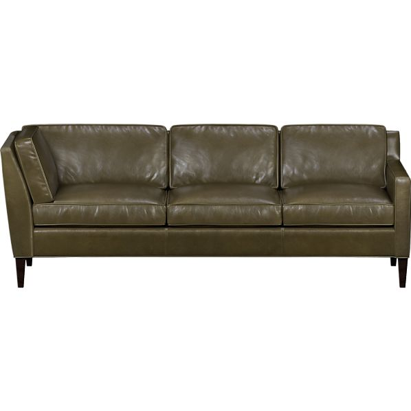 Vaughn Leather Right Arm Corner Sectional Sofa