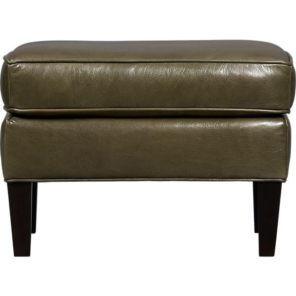 Vaughn Leather Ottoman