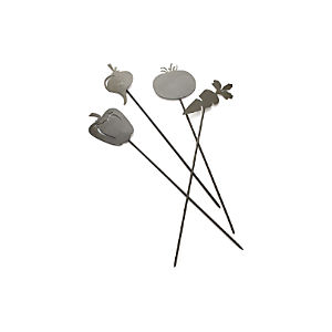 Set of 4 Veggie Garden Stakes