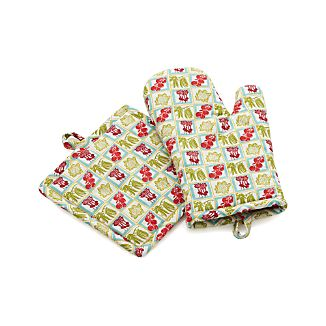 Veggie Patch Oven Mitt and Pot Holder