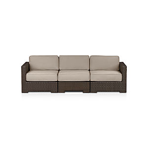 Ventura 3-Piece Loveseat Sectional with Sunbrella® Stone Cushions