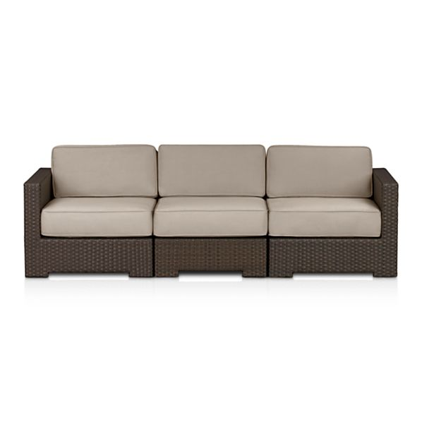 Ventura 3-Piece Loveseat Sectional with Sunbrella ® Stone Cushions