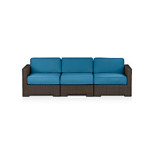 Ventura 3-Piece Sectional with Sunbrella® Turkish Tile Cushions