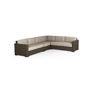 Ventura 4-Piece Sectional with Sunbrella ® Cushions