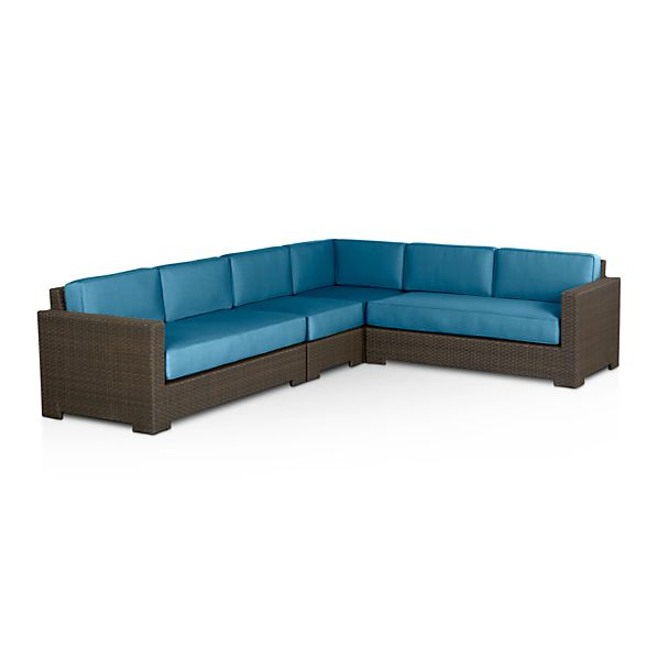 Ventura 4-Piece Sectional with Sunbrella® Turkish Tile Cushions