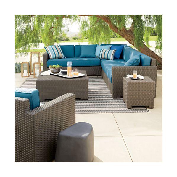 Ventura 3-Piece Loveseat Sectional with Sunbrella ® Cushions