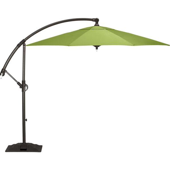 10' Round Sunbrella® Kiwi Free-Arm Umbrella with Base